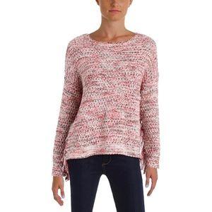 NWOT Aqua Boucle sweater with fringe sleeves!